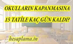 Okulların Kapanması 15 Tatile Geri Sayım? Sömestr Kaç Gün Kaldı?
